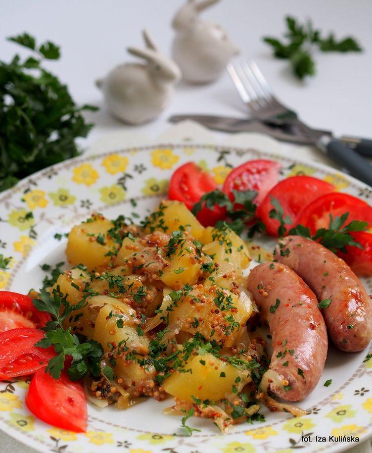 Smaczna Pyza: Biała kiełbasa z ziemniakami i musztardą francuską