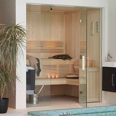 This custom-made sauna from Drom UK is part of a leisure suite that includes a whirlpool spa http://www.barbourproductsearch.info/bespoke-sauna-room-for-family-residence-news020031.html