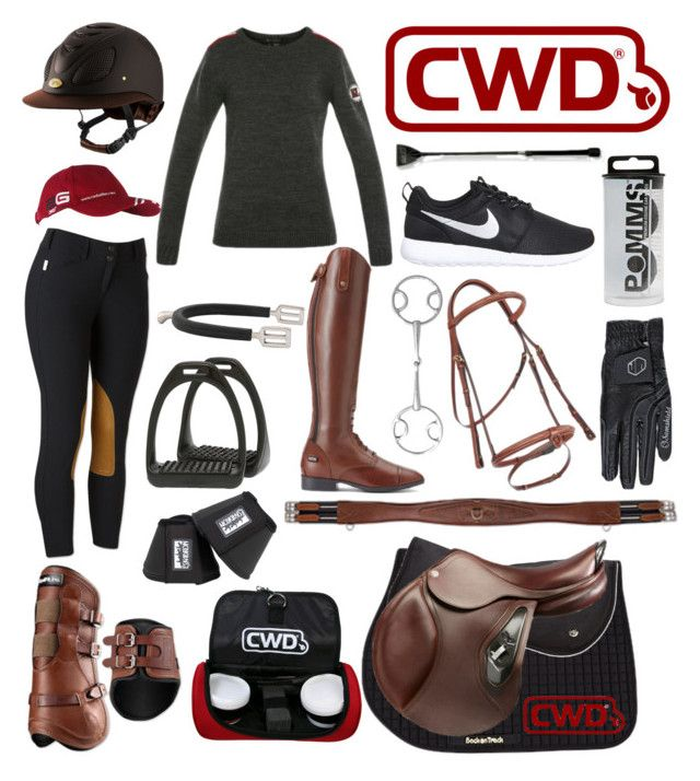 """""""cwd themed outfit"""" by a-circuit-equestrian on Polyvore featuring INC International Concepts, Ariat, NIKE, women's clothing, women, female, woman, misses and juniors"""