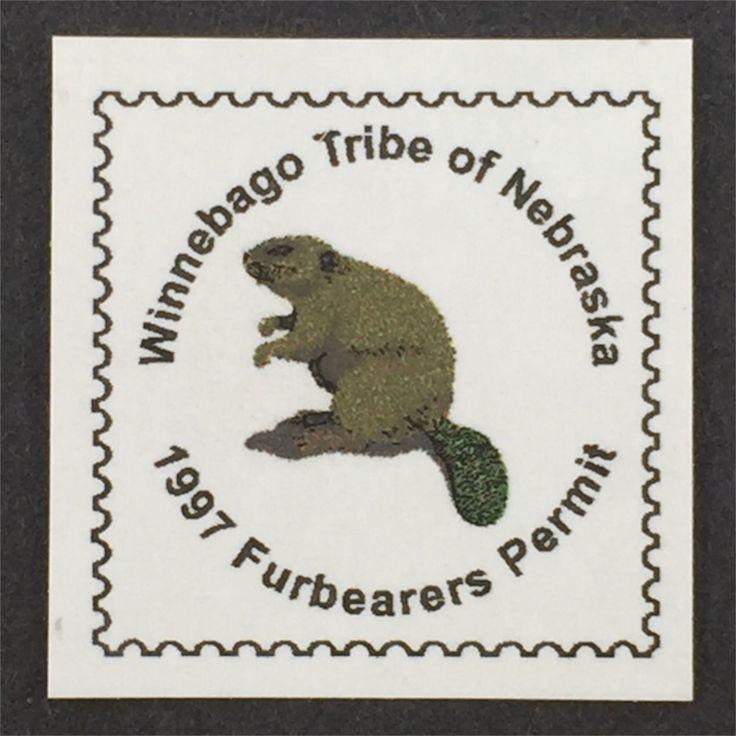 WB0107 1997 Set/7 Indian flag, Winnebago, Tribe