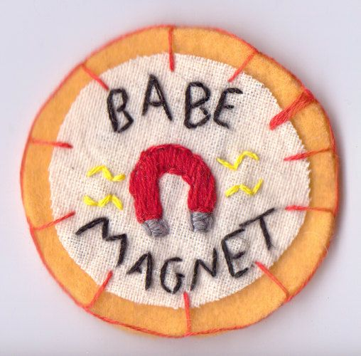 Orange Babe Magnet Patch