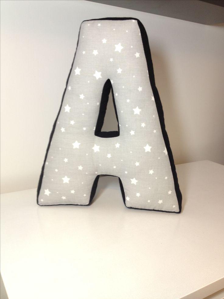 Poduszka bawełniana literka A pillow letter sewing