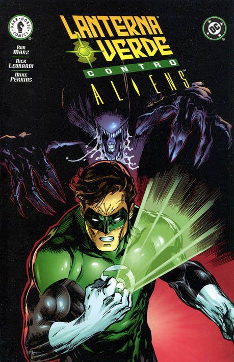 """Green Lantern vs Aliens"" (2000) Cover di Dwayne Turner #DarkHorseComics #DCComics #Aliens #GreenLantern"