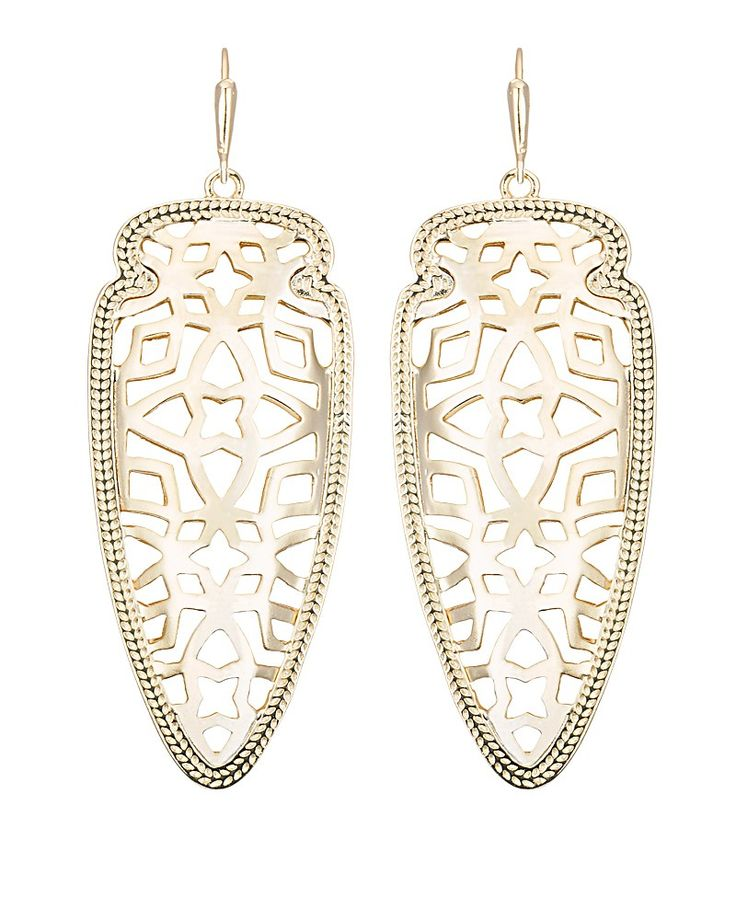 I've been looking for both arrowhead and gold dangles for a while now. Sadie Spear Earrings in Gold - Kendra Scott Jewelry.