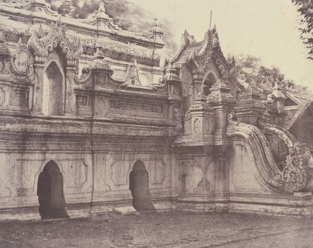 Burma, now Myanmar - 'Amerpoora: Toung-lay-lou-tiy Kyoung' 1 September - 21 October 1855 © National Gallery of Art, Washington. Stephen G. Stein Fund.
