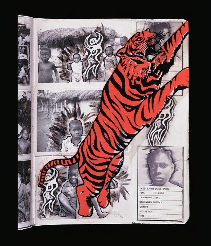 """""""Tiger"""" from Dan Eldon's journals."""