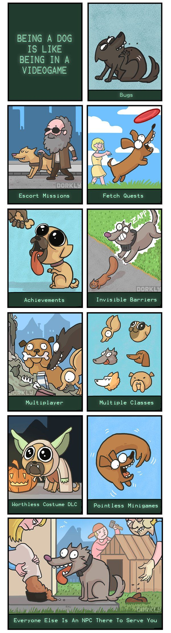 Being a dog is like being in an RPG