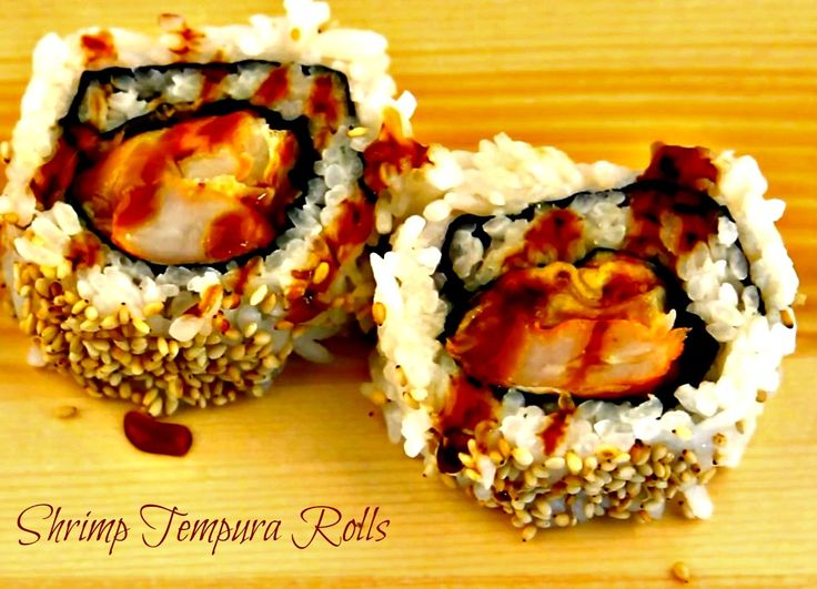 Learn how to make these Shrimp Tempura Rolls at home!