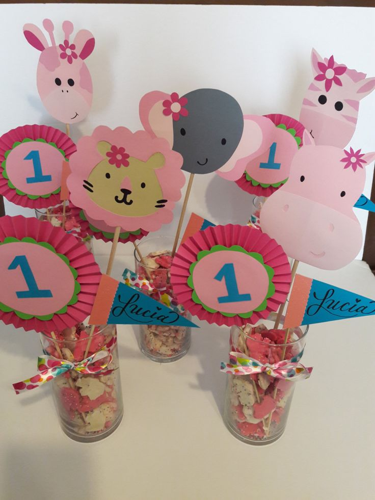 Jungle safari theme centerpiece for a girl baby shower or birthday party by AllThemesPossible on Etsy