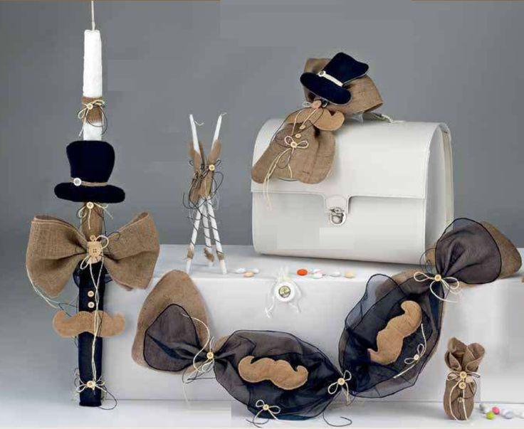 ΠΑΚΕΤΟ ΒΑΠΤΙΣΗΣ ΜΟΥΣΤΑΚΙ  Κωδ.: 08021   Πακέτο βάπτισης με θέμα μουστάκι για αγόρι.  Το πακέτο περιλαμβάνει στολισμένα την τσάντα,την λαμπάδα,3 κεράκια για την κολυμπήθρα, το σετ του λαδιού (μπουκαλάκι και σαπουνάκι) και την γιρλάντα για την κολυμπήθρα.  Η τιμή αφορά το 1 πακέτο και περιλαμβάνει τον Φ.Π.Α.    Τιμή: 202,00€