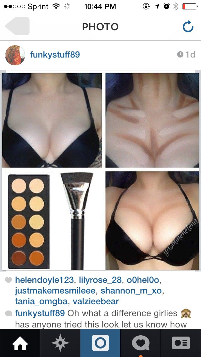 Who would actually do this unless on stage?! Ridiculous AND funny! Contouring concealer chest