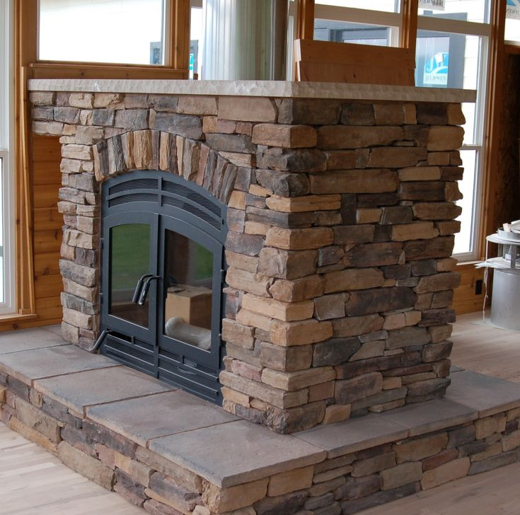 Traditional See Thru Wood Double Sided Fireplace With Brick Exposed Panels And Wooden Frames Windowed Indoor Rustic Decoration Ideas