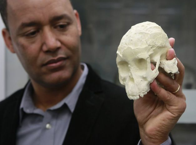 She was only 3 years old, but her fossil bones tell a contentious story of ancient prehumans who walked on two feet like us more than 3 million years ago, but climbed trees like her distant ancestors, the greatapes.    Her partial skeleton was discovered embedded in the sandstone rocks of Ethiopia's Afar desert a dozen years ago by Zereseney Alemseged, the noted anthropologist at the California Academy of Sciences. He named her Selam and still works to reconstruct herlife.