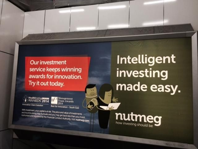 Good to see @thenutmegteam displaying their @BVCA Management Team Award at Euston station. Well done again team!