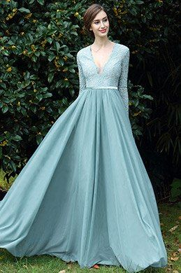 eDressit Light Green Plunging V Neck Lace Evening Dress (00170904)