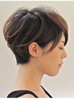 Short Hairstyles With Long Bangs Fascinating 34 Best Pixieshort Hair Styles Images On Pinterest  Hairstyle