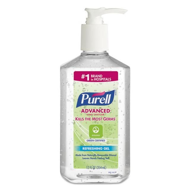 Advanced Green Certified Instant Hand Sanitizer Gel 12oz Pump