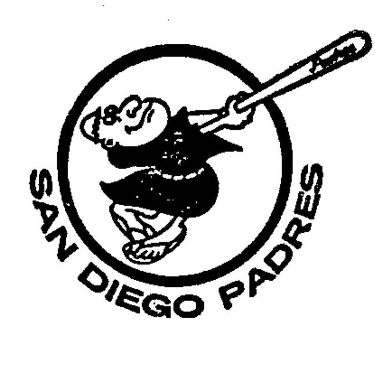 Vintage Padres logo registered as trademark on this day in 1975. First use in 1969.  #SanDiego #Padres #baseball #logo #brand #trademark #trivia
