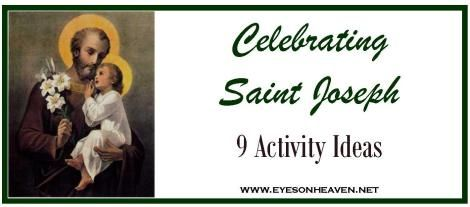 9 Activity Ideas for St. Joseph's Day.