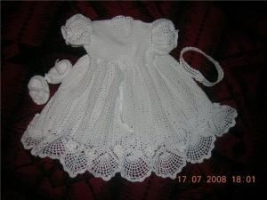Master Class Christening Dress free crochet pattern by kimp7778