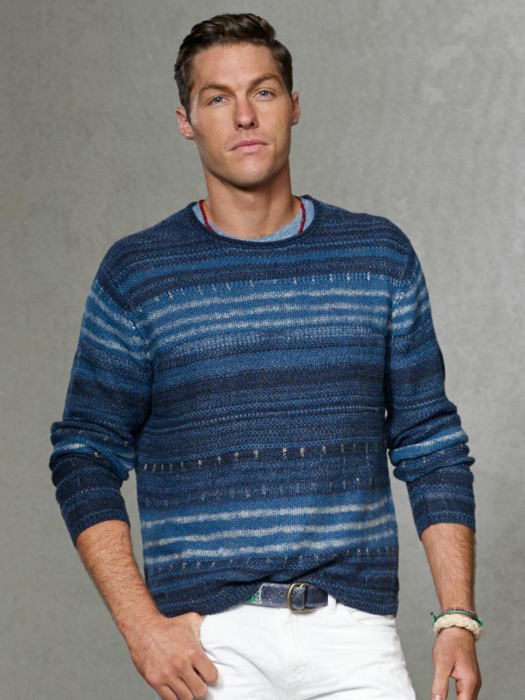 Striped Blanket Sweater - Crewneck  Sweaters - RalphLauren.com