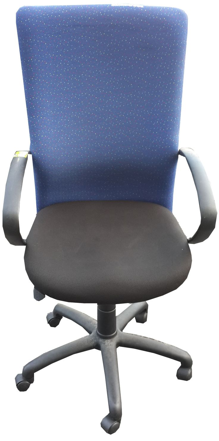 Blue & Black highback typist chair @ R560.00
