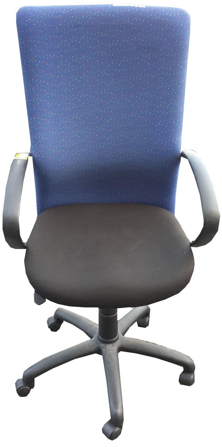 Blue & Black highback typist chair @ R560.00