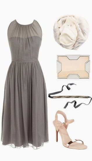 Lavender Silk Chiffon Dress //