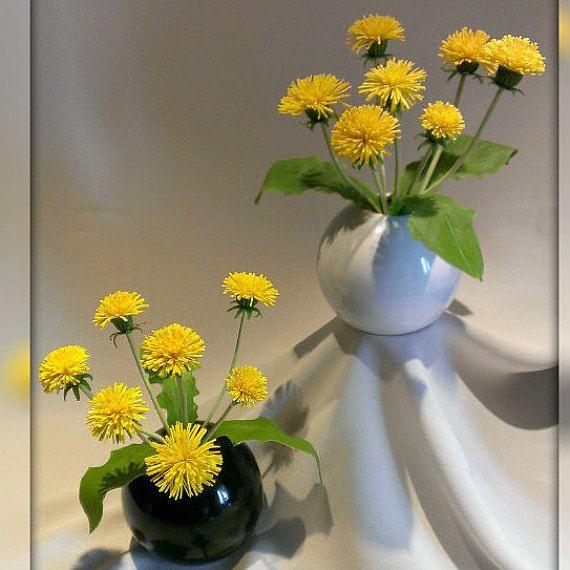 Dandelions. Two flower arrangements by Femalehappiness on Etsy