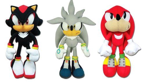 Set of 3 Great Eastern Sonic the Hedgehog Plush - Werehog/Silver/Knuckles @ niftywarehouse.com #NiftyWarehouse #Sonic #SonicTheHedgehog #Sega #VideoGames #Gaming