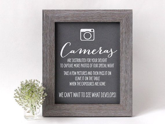 Hey, I found this really awesome Etsy listing at https://www.etsy.com/listing/222017123/wedding-disposable-camera-sign-rustic