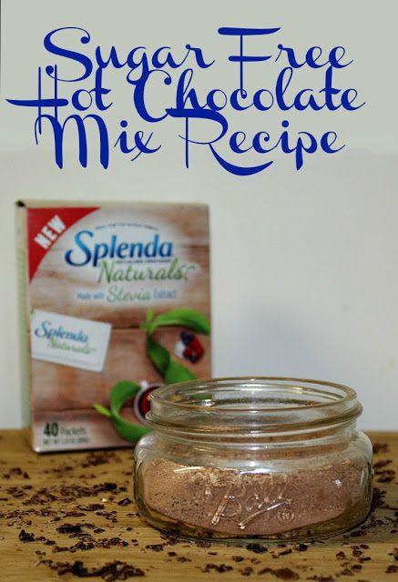 Sugar Free Hot Chocolate Mix With SPLENDA® Naturals Stevia Sweetener Recipe @splenda #GoodbyeSugar30 #ad