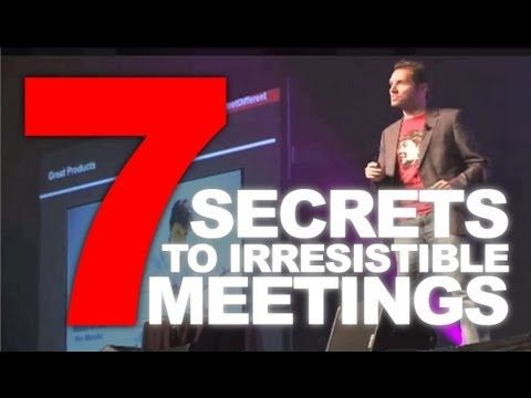 7 Secrets to an Irresistible Meeting (MPI) - Conference, Meeting Planner & Keynote Speaker Idea #irresistible #meeting #secrets