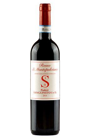 Rosso di Montepulciano. Poderi Sanguineto. 80% Prugnolo Gentile,15% Canaiolo Nero e 5% Mammolo secondo la tradizione del Rosso di Montepulciano...