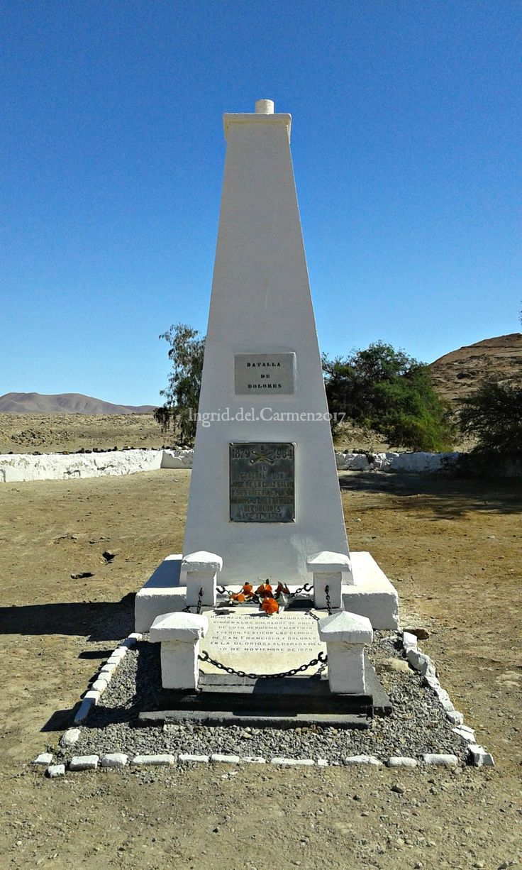 En mi viaje al Norte de Chile en Julio del año 2017 conocí la pampa y estuve en el Monolito al Combate de Dolores.