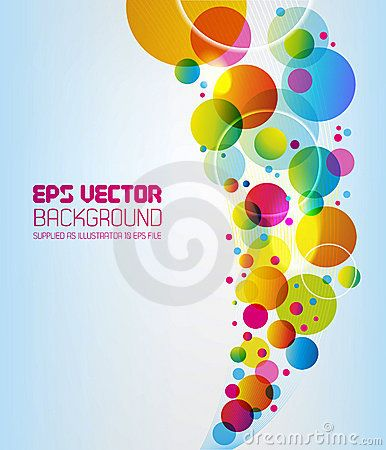 Vector Illustration about Abstract Background - circles