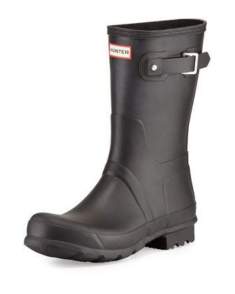 Original Short Boot, Black by Hunter Boot at Neiman Marcus.