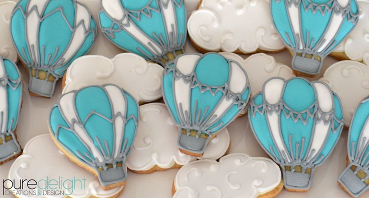 Hot Air Balloon and Cloud Sugar biscuits
