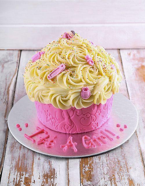 Buy Personalised Baby Girl Giant Cupcake Online - NetFlorist
