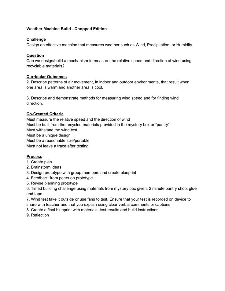 Weather Machine Build Challenge Resource Preview