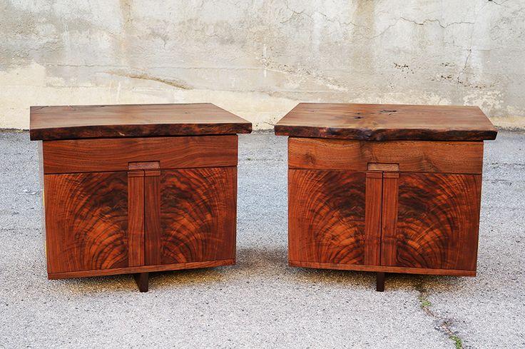 Claro Walnut Bedside Tables - Offerman Woodshop