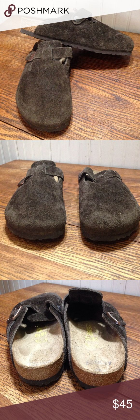Birkenstock brown women size 6 men's size 4 Birkenstock brown women size 6 men's size 4, 37 is the European size, pen writing on inside heels- not noticeable when on otherwise these are in excellent condition Birkenstock Shoes