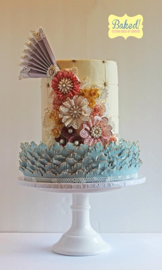 Vintage Lace Cake Decorating : Shabby Chic Vintage Lace Cake by Rebecca Cakes & Cake ...