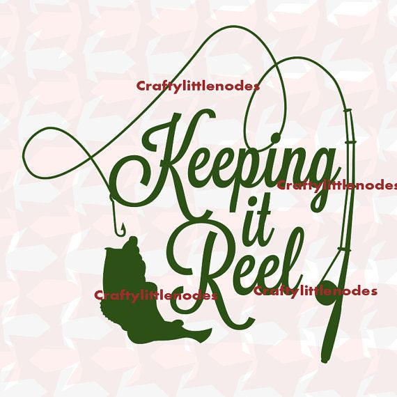keeping it reel fishing svg scalable vector by