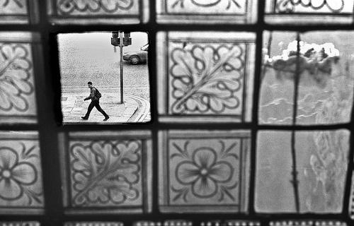 Christ Church Window with Missing Pane, Dublin, 1990s