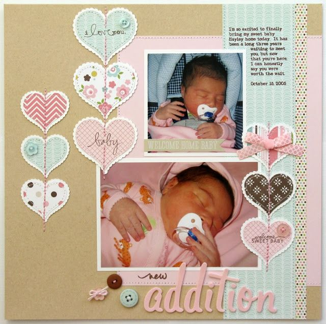 baby girl scrapbook layouts | getting around to sharing some more layouts from my National Scrapbook ...