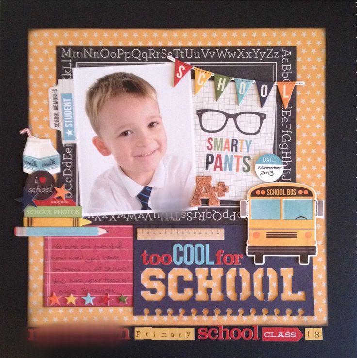 #papercraft #scrapbook #layout.  #B2S. Simple Stories School