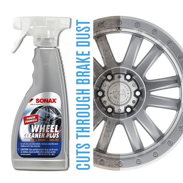 SONAX Wheel Cleaner Plus Color-changing Brake Dust and Road Grime Remover