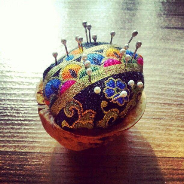Photo by teapot10 Peanut shell pin cushion