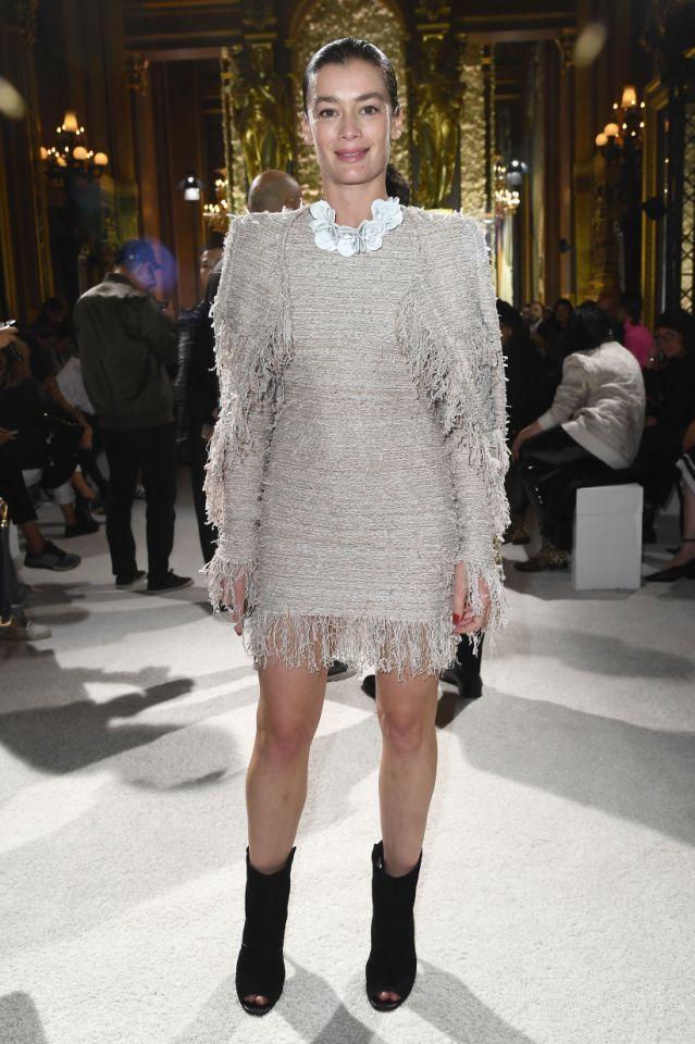 La danseuse étoile Aurélie Dupont était également présente au défilé Balmain. (Getty)